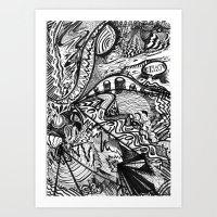 BLACK THOUGHTS  Art Print