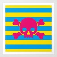 Summertime Pirate Art Print