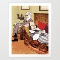 Freud Analysing Shakespe… Art Print
