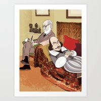 Freud Analysing Shakespe… Art Print