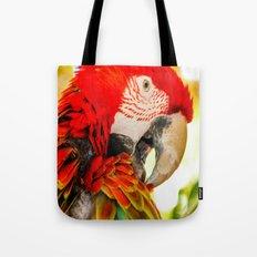 Scarlet Macaw Parrot Tote Bag