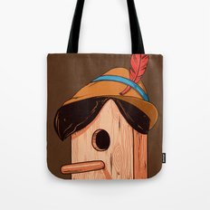 Woodpecker´s house Tote Bag