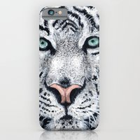 iPhone & iPod Case featuring White Tiger by Heather Bechler