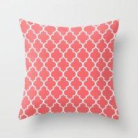 Marrakech Coral Throw Pillow