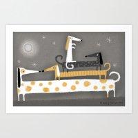 WIENER STACK Art Print