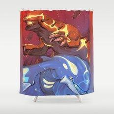 Omega Ruby & Alpha Sapphire Shower Curtain