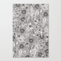Pencil Flowers Canvas Print