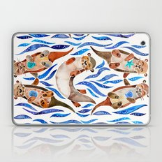 Five Otters – Blue Palette Laptop & iPad Skin