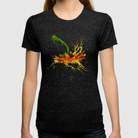 Liquid Daisy Womens Fitted Tee Tri-Black SMALL