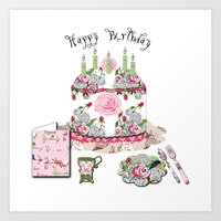 Happy Birthday Party Art Print
