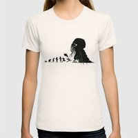 Lovecraftian Darwinism Womens Fitted Tee Natural SMALL