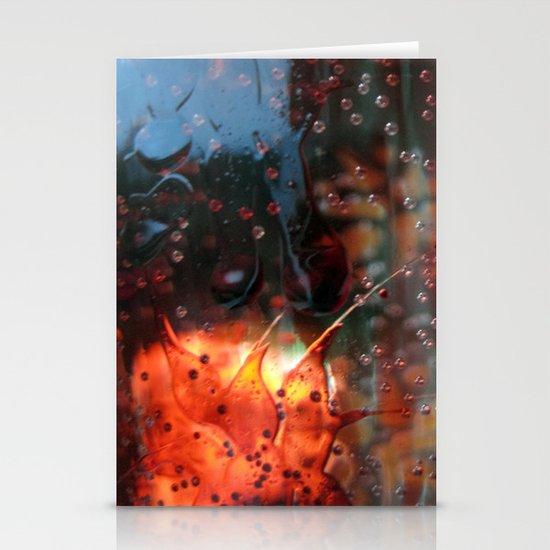 silver rain Stationery Card