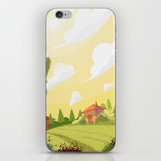 Campagne ensoleillée / Sunny countryside iPhone & iPod Skin