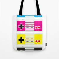CMYK Retro Gamer  Tote Bag