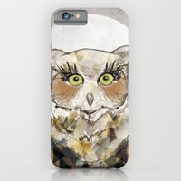 iPhone & iPod Case featuring The Great Horned Owl by Jo Cheung Illustration
