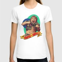 Truffle Shuffle! Womens Fitted Tee White SMALL