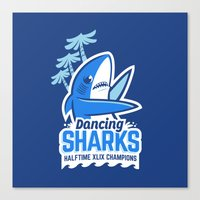 Dancing Sharks Canvas Print