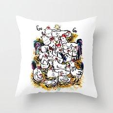 Chicken & peeps Throw Pillow