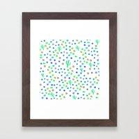 Bright cactus pattern Framed Art Print