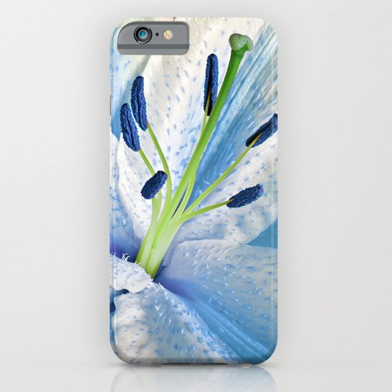 Blue Lily Macro iPhone & iPod Case