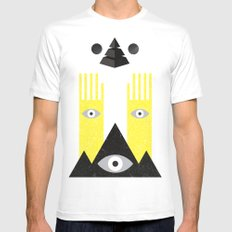 PYRAMIDº SMALL White Mens Fitted Tee