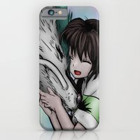 anime iPhone & iPod Cases featuring ilustración anime by paus_12