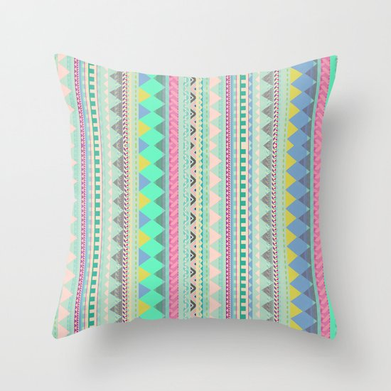 PASTEL AZTEC Throw Pillow