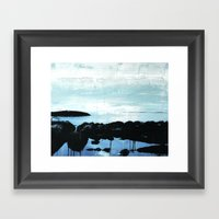 The ocean and me Framed Art Print