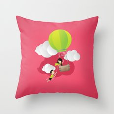 for the adventure of love Throw Pillow