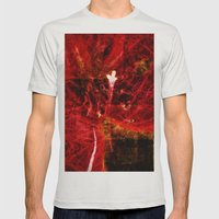 Astral flower Mens Fitted Tee Silver SMALL