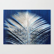 ✔️White and Blue Feather Canvas Print