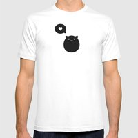 Kitty Love Mens Fitted Tee White SMALL