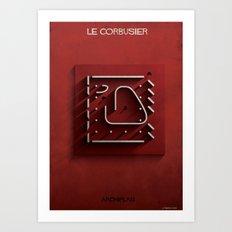 04_ Archiplan_le corbusier Art Print