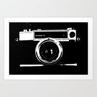 camera Art Prints featuring Camera by Maressa Andrioli