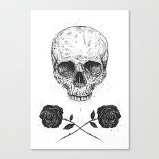 Skull N' Roses Canvas Print
