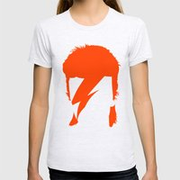 BOWIE Womens Fitted Tee Ash Grey SMALL