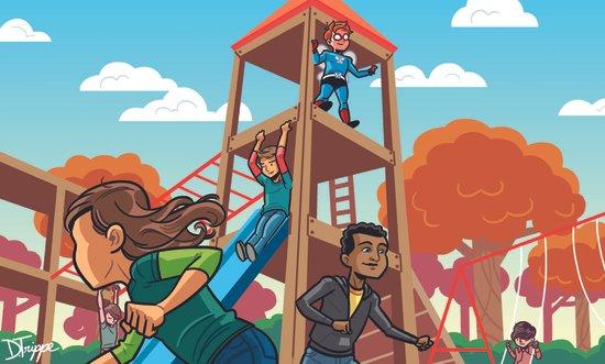 Playground Hero Art Print