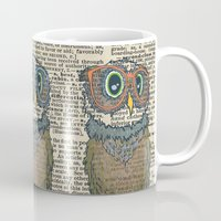 Owl Wearing Glasses Mug