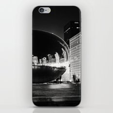 Chicago's Cloud Gate at Night iPhone & iPod Skin