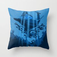 The Underwater Fantasy Throw Pillow