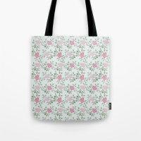 Rose Print Tote Bag