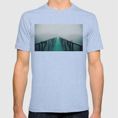 suspension bridge Mens Fitted Tee Athletic Blue SMALL
