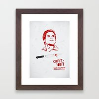 Cut It Out - Dex Framed Art Print