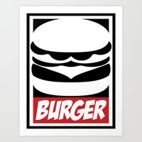 Obey Burger Art Print