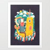 Art Print featuring Unicorn by Seaside Spirit