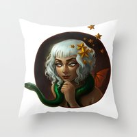 Stars And Serpents Throw Pillow