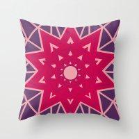 Geometric Star Mandala Throw Pillow