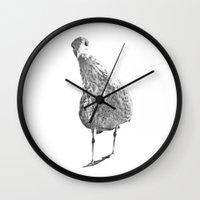 Inquisitive seagull Wall Clock