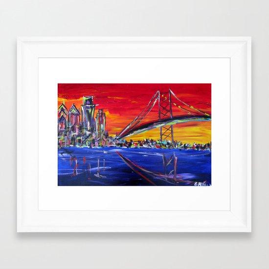 Ben Franklin Bridge Sunrise Framed Art Print
