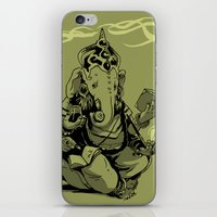 Nerdy Ganesha iPhone & iPod Skin